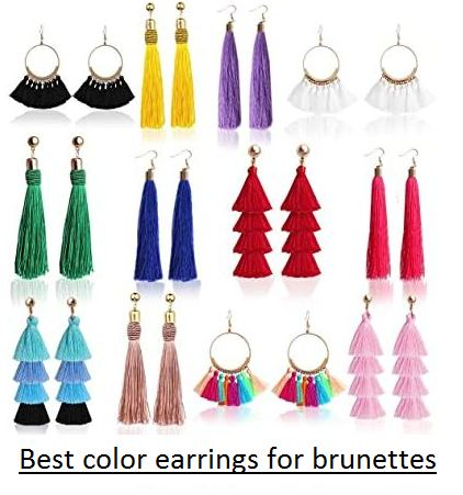 best color earrings for brunettes