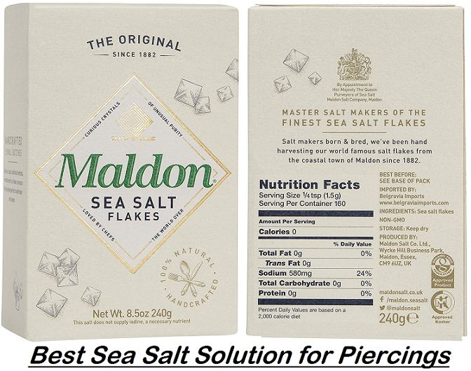 best sea salt solution for piercings
