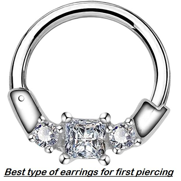 best type of earrings for first piercing