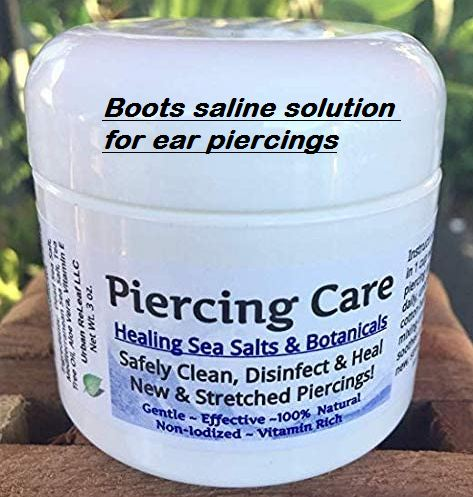 boots saline solution for ear piercings