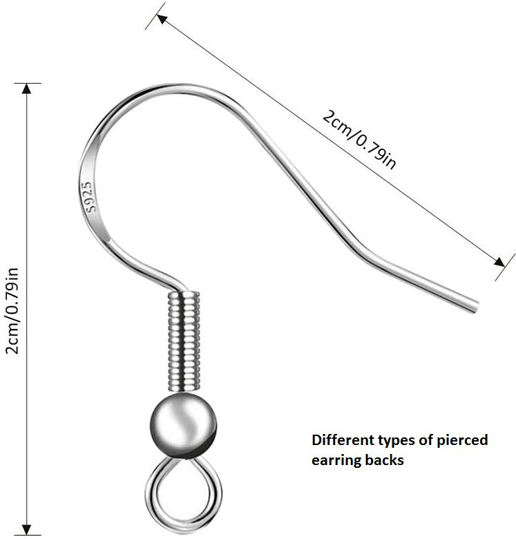 different types of pierced earring backs
