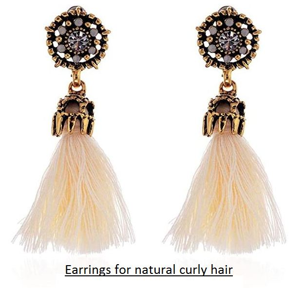earrings for natural curly hair