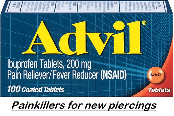 painkillers for new piercings