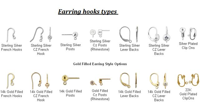 types of earring hooks