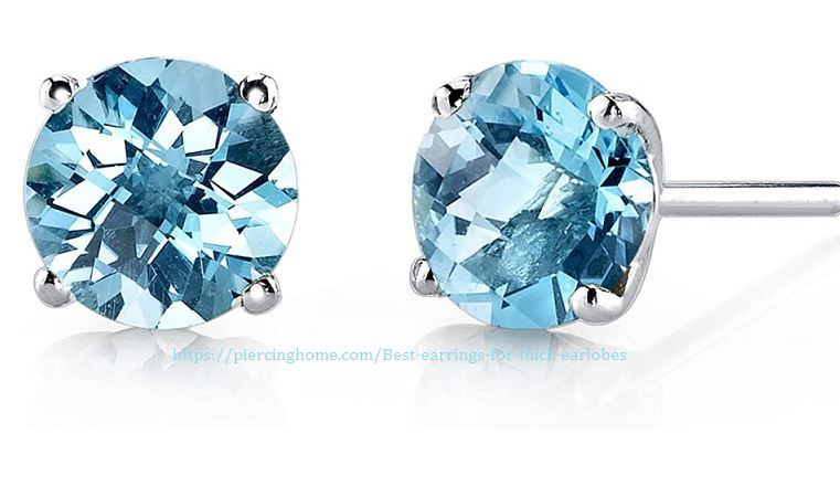 stud earrings for thick earlobes