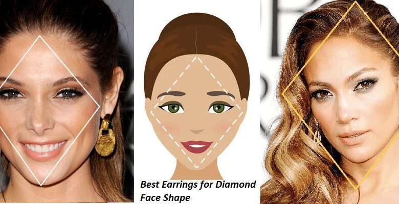 Best Earrings for Diamond Face Shape