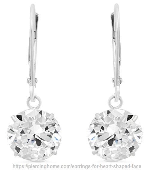 Leverback Earrings with Cubic Zirconia
