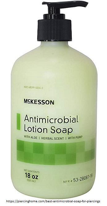 antimicrobial lotion soap for piercings