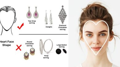 best earrings for heart shaped face