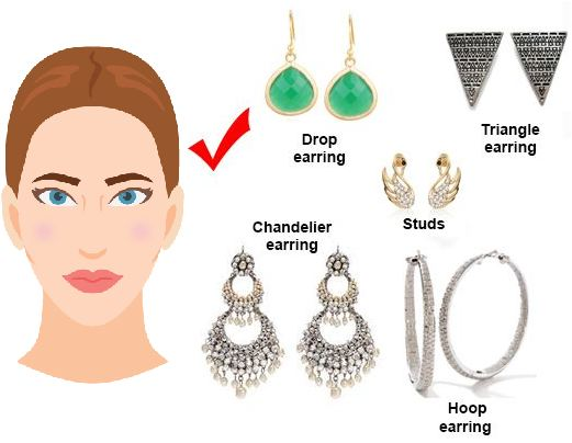 earrings for oval shaped face