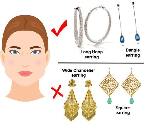 earrings for pear shaped face