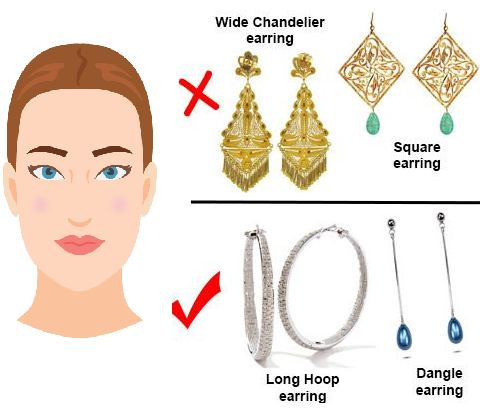 earrings for rectangle face shape