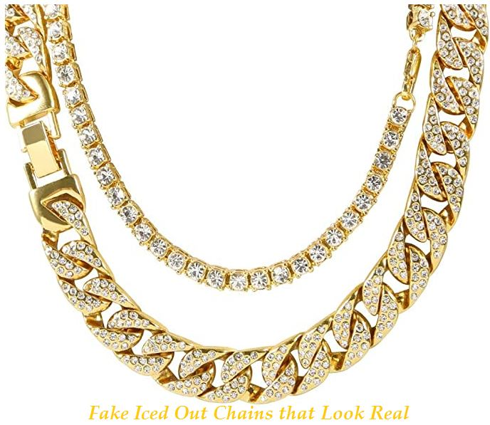Fake Iced Out Chains that Look Real