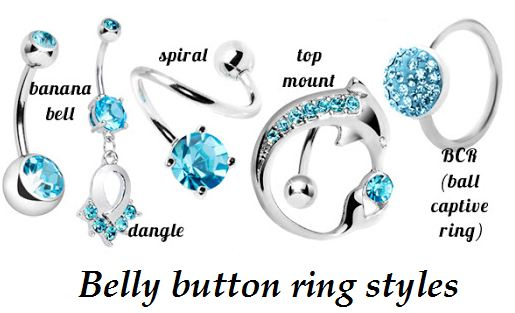 belly button ring styles