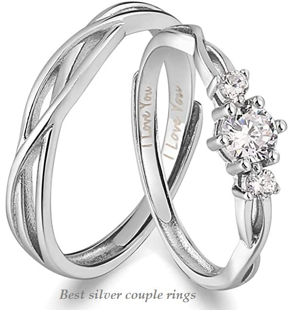 best silver couple rings