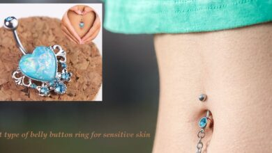 best type of belly button ring for sensitive skin