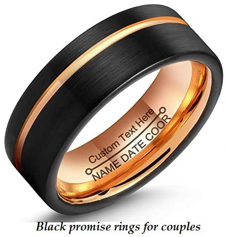 black promise rings for couples