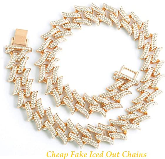 cheap fake iced out chains