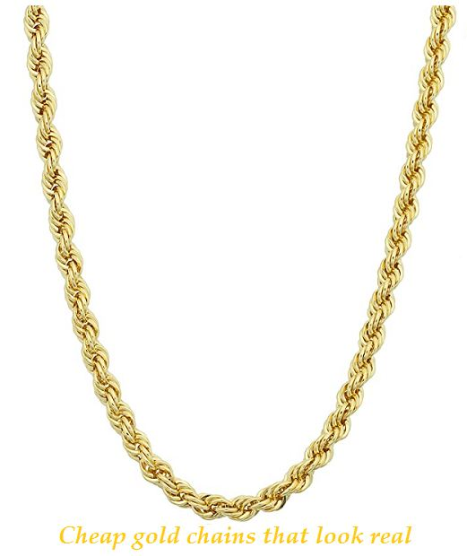 cheap gold chains that look real