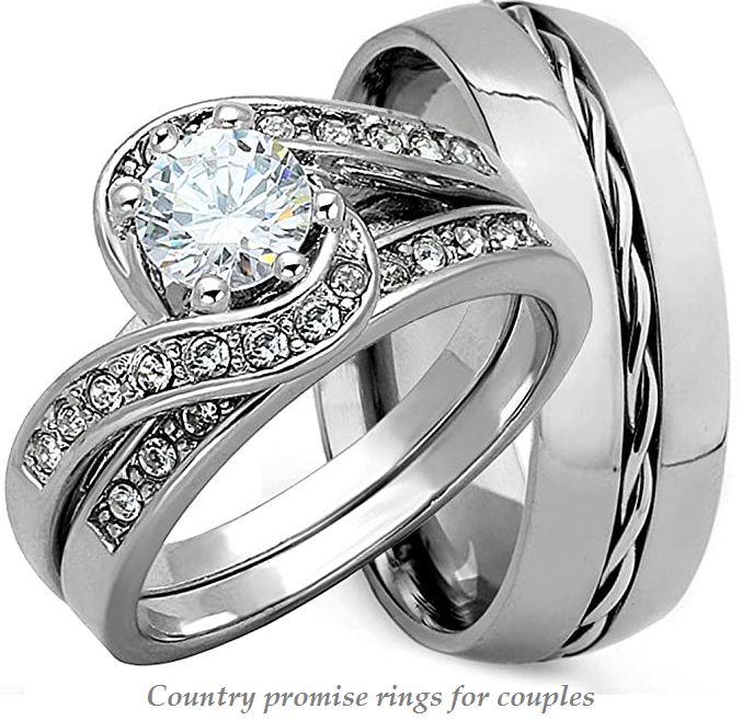 country promise rings for couples