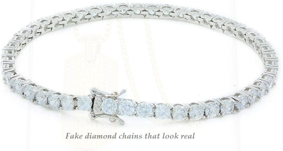 fake diamond chains that look real