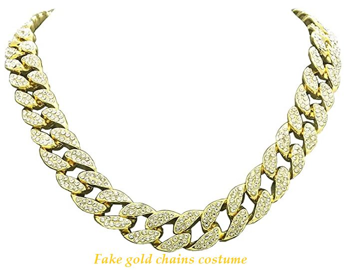 fake gold chains costume