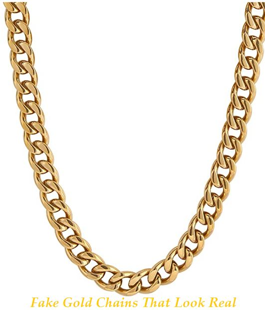 fake gold chains that look real