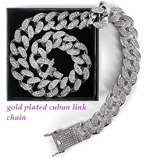gold plated cuban link chain