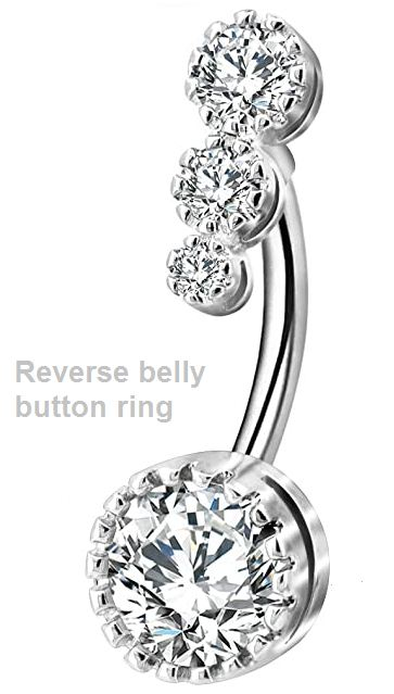 reverse belly button ring