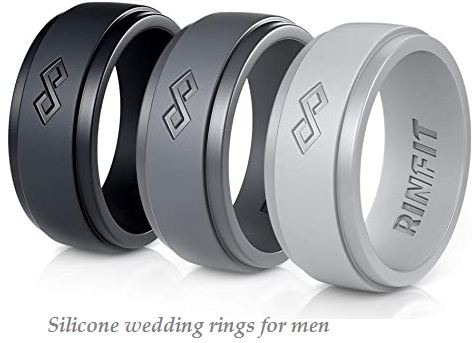 silicone wedding rings for men