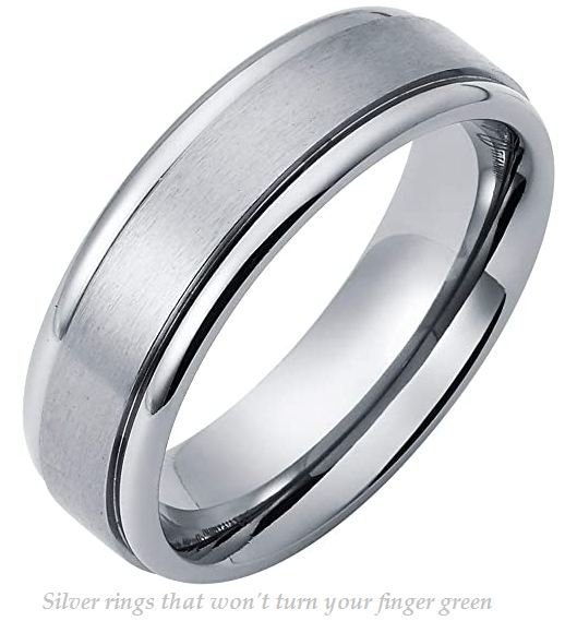 silver rings that wont turn your finger green