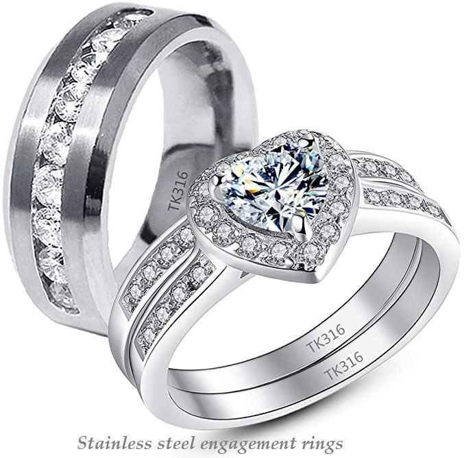 stainless steel engagement rings