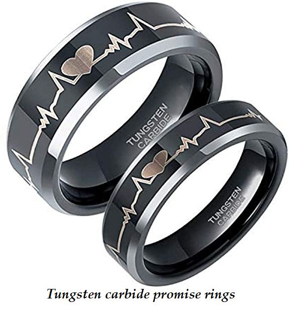 tungsten carbide promise rings