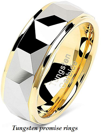 tungsten promise rings