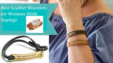 Leather Bracelets for Womens With Sayings