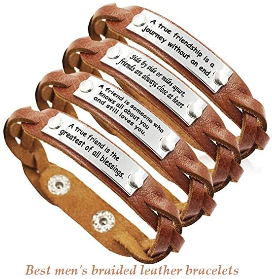 best mens braided leather bracelets