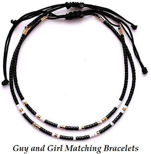 guy and girl matching bracelets
