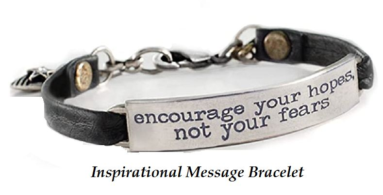 inspirational message bracelet