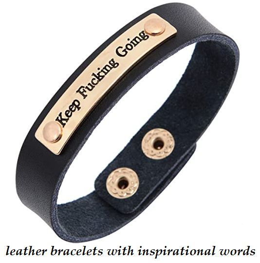 leather bracelets with inspirational words