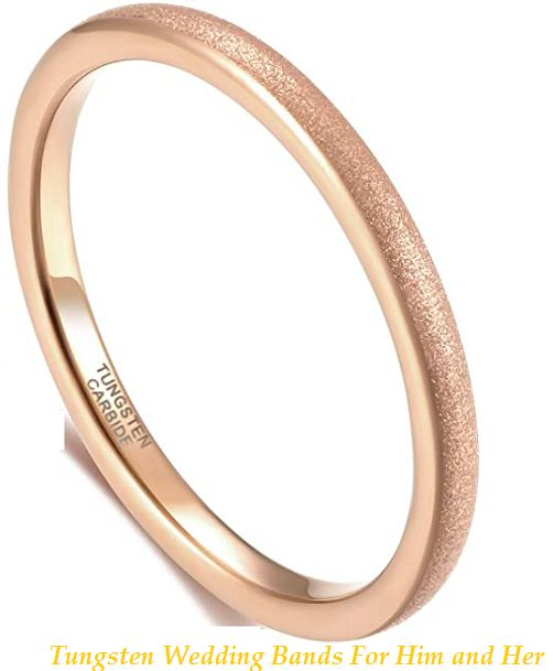 tungsten wedding bands for him and her