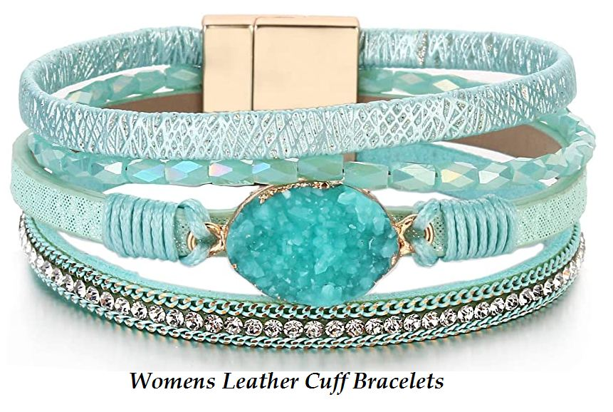 womens leather cuff bracelets