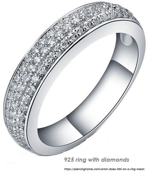 925 ring with diamonds