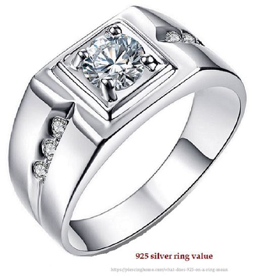 925 silver ring value
