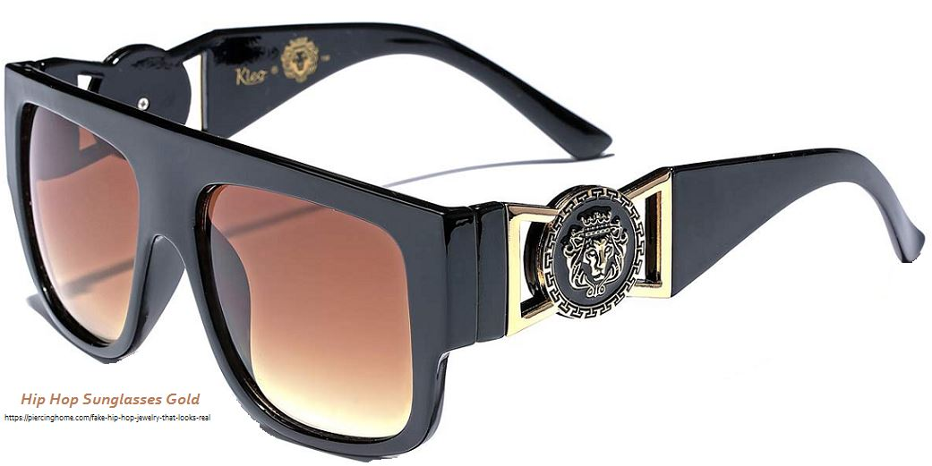 Hip Hop Sunglasses Gold