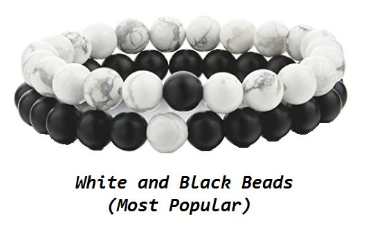White and Black Beads (Most Popular)