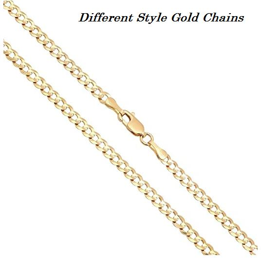 different style gold chains