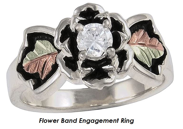 flower band engagement ring