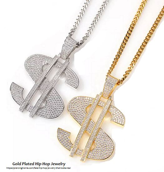 gold plated hip hop jewelry