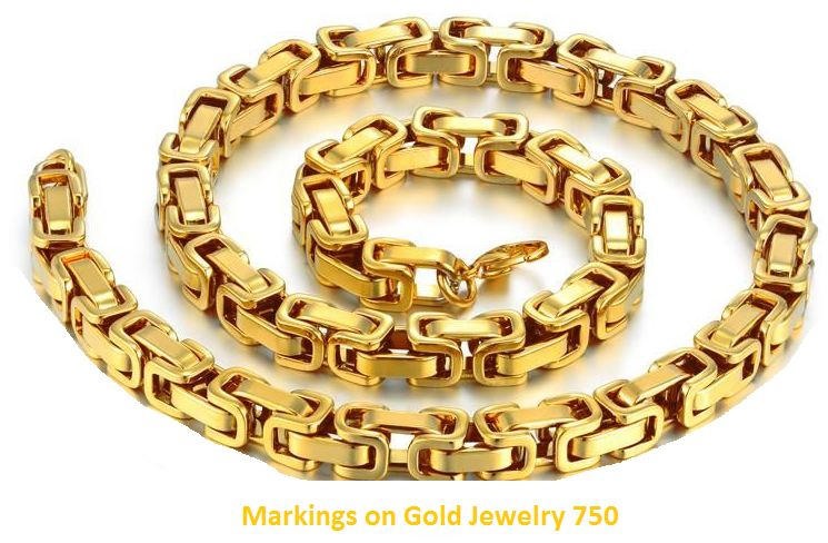 markings on gold jewelry 750