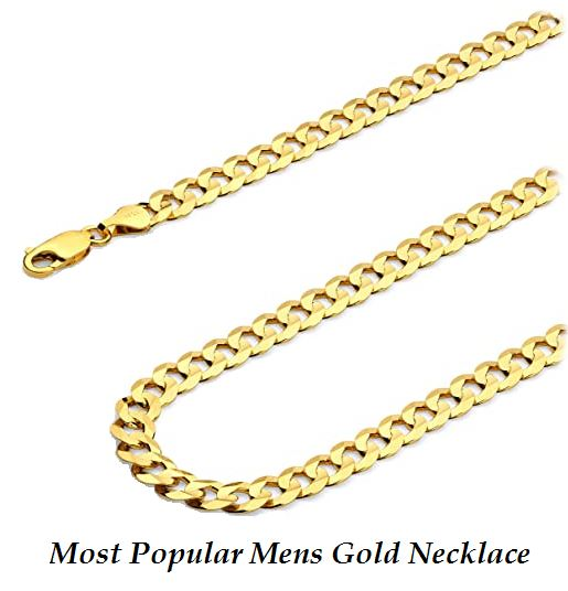 most popular mens gold necklace